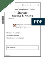 118509 YLE Starters Reading Writing Sample Paper B