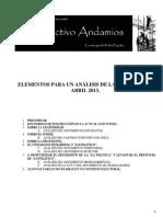 Elementos Para Un Analisis de La Coyuntura - Abril 2013