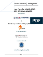 USAID STARENERGY Scholarship Application 2013