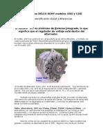 DELCO REMY Modelos 10SI y 12SI Alternadores