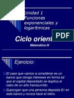Unidad1 Funcion Exponencial y Logaritmica