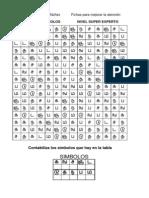 100 Matrices de Atención. Letras y Símbolos. Nivel