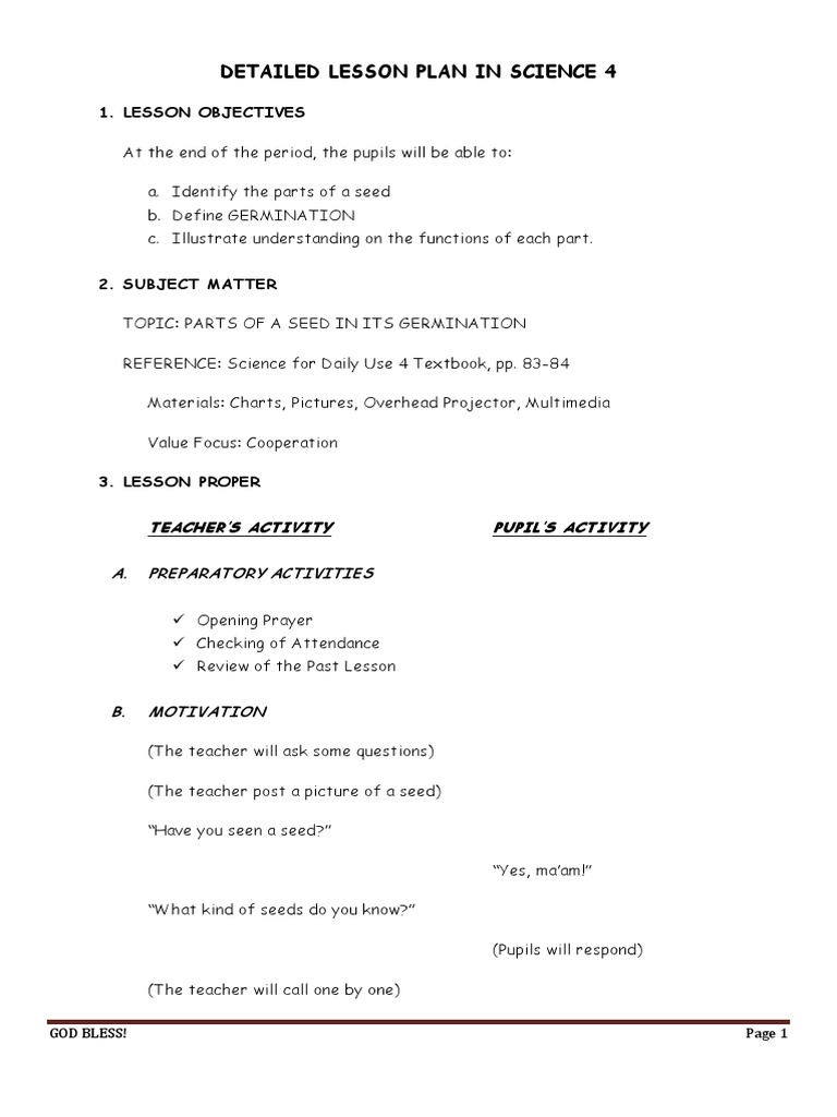 detailed lesson plan in science sense organs Malhacan elementary school city of meycauayan, bulacan lesson plan in science i objectives identifies the senses associated with the sense organs values: appreciation of the value of curiosity ii.