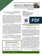 Tabernacle Messenger - September 2013