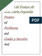 Trabajo de Ensayo de José María Arguedas