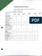 reading strategies checklist