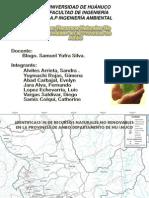 IDENTIFICACIÓN DE RECURSOS NATURALES NO RENOVABLES EN LA PROVINCIA DE AMBO
