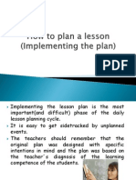 How to Plan a Lesson (Developing the, Presentation