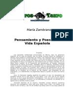 Zambrano, Maria - Pensamiento Y Poesia En La Vida Española