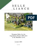 20154854 Belle Alliance Wargame Rules