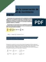 Principio de la conservación de la cantidad de movimiento angular