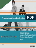 ALCATEL.towards a New Broadband Business Model