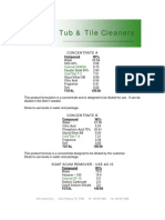 Tub & Tile Cleaners - 031
