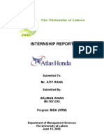 Atlas Honda Internship by Salman Awan