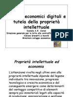 sistemi economici digitali e tutela della proprietà intellettuale tor vergata master media 8 maggio 2009