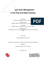 Supply Chain Management in pulp and paper industry