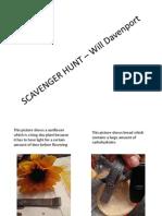 SCAVENGER HUNT – Will Davenport