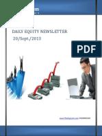 Equity Newsletter 20-september