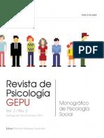 RevistadePsicologiaGEPU2MonograficoPsicologiaSocial