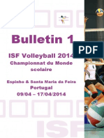 ISF Volleyball 2014 Bulletin 1 F