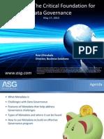 ASG DAMA Data Governance
