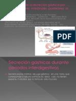 Inhibición de la secreción gástrica por otros factores