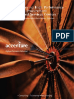 Achieving High Performance With Procurement Shared Services Centers