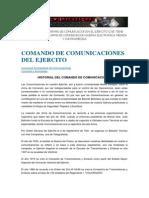 Creacion de Las Armas de Comunicacion en El Ejercito q Se Tiene Actualmente