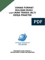 Pedoman Format Penulisan Buku Laporan Teknis (BLT) Kerja Praktek