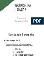 3. Mengenal Komponen Elektronika Aktif Transistor-1