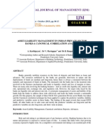 Asset-liability Management in Indian Private Sector Banks-A Canonical Correlati