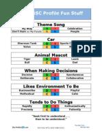DiSC Profile Fun Stuff