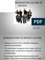 project on organisatin culture of infosys