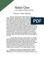 Status Quo ( Nigeria on a Brink of Political Suicide)