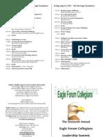 Collegians Leadership Summit 09 Program