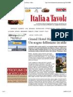 Grand Hotel Rimini Un Sogno Felliniano in Stile Liberty - Italia a Tavola