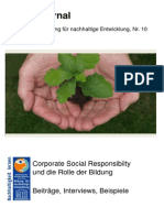 BNE-Journal - Corporate Social Responsibilty Und Der Wert Der Bildung