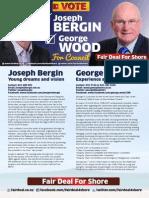 Campaign brochure of George Wood and Joe Bergin