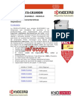 Toner para impresora color Kyocera FS C8100DN