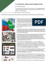Insider News - 1700 - Saudis Go on Full Alert as Putin War Threat Stuns Muslim World