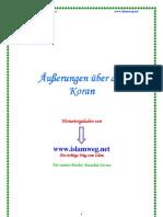 Aeusserungen Ueber Den Koran - Islamweg.net