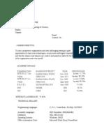 Demo Resume