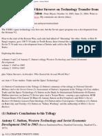 Sutton, Antony; Suworow, Wiktor - Western Technology and Soviet Economic Development