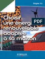 Choisir une énergie renouvelable adaptée à sa maison [Eyrolles]