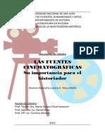 Las Fuentes Cinematográficas en el trabajo de Investigación Histórica