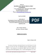 Maharashtra Order 6 of 2013 22 March 2013