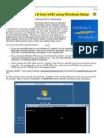 Dual Boot Windows 8 From VHD Using Windows Setup