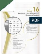 16 Administración del sistema II. Ajustes del sistema