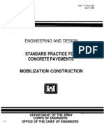 Engineering and Design - Standard Practice for Concrete Pavements - Mobilization Construction - EM_1110!3!135
