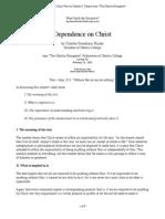 Dependence on Christ